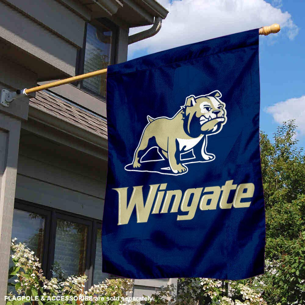 College Flags and Banners Co Wingate Bulldogs Double Sided House Flag
