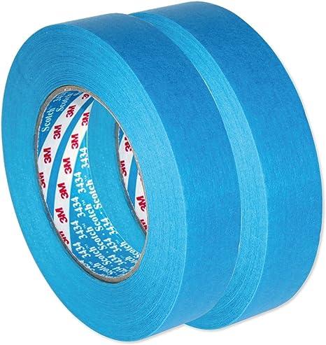3m Scotch Autobright Blaues Band Wasserdicht Automotive Kreppband 3434 110 C 25 Mm X 50m X 2 Auto