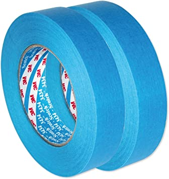 AutoBright 3M 25mm x 50m azul Scotch coche cinta adhesiva. Dos Rolls: Amazon.es: Coche y moto
