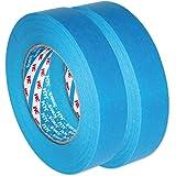 3M Scotch AutoBright Blaues Band Wasserdicht, Automotive Kreppband 3434 110°C 25 mm x 50m x 2