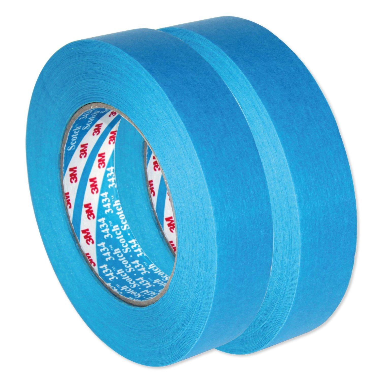 AutoBright 3M 25mm x 50m azul Scotch coche cinta adhesiva. Dos Rolls