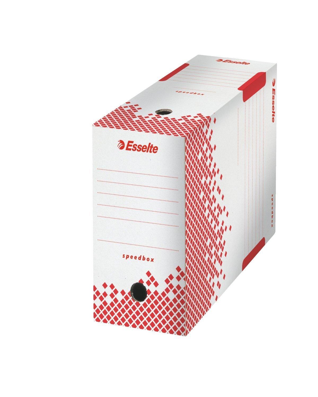 Esselte –  Set di 5 scatole archivio Speedbox montaggio automatiqe Retro di 15 cm