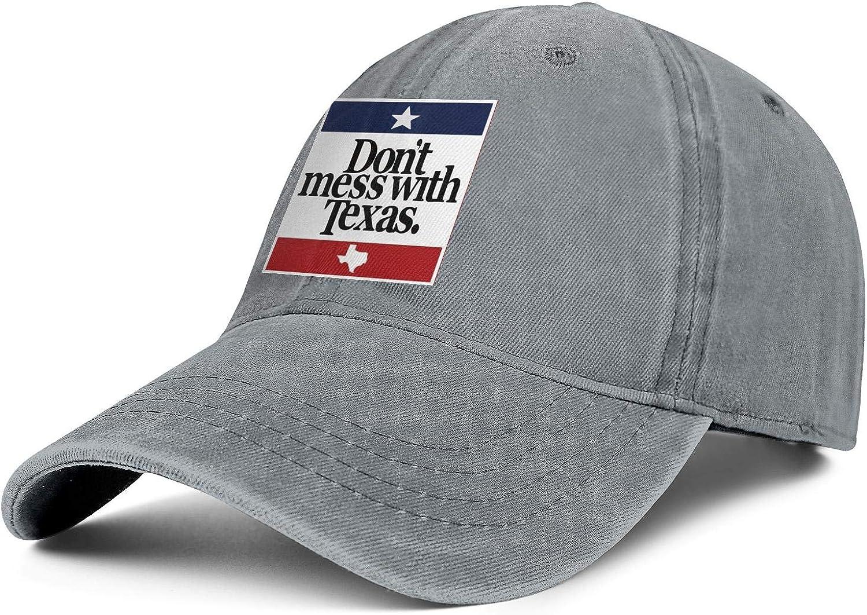 SNEFUEE Mens Womens California Palm Tree Cap Designed Denim Cowboy Hat Hiking Caps