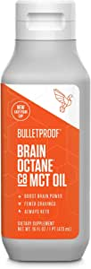 Bulletproof Brain Octane C8 MCT Oil from Coconut Oil, 16 Fl Oz, Provides Mental and Physical Energy, Keto and Paleo Friendly, Made in USA