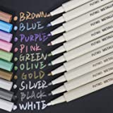 PuTwo Metallic Markers, 10 Assorted Colors Water