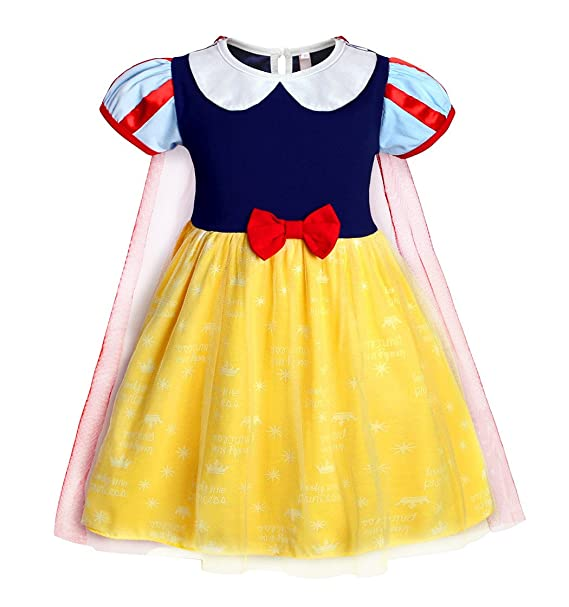 cc2ebb14e AmzBarley Girls Princess Snow White Dress up Costume Kids Fancy Nightgowns  Halloween Birthday Party Evening Dresses Holiday Childs Outfit Clothes Age  7-8 ...