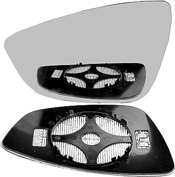 Left hand passenger side wing door clip on mirror glass