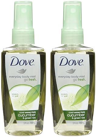Amazon Com Dove Go Fresh Cool Essentials Body Mist 3 Ounce Bath And Shower Spray Fragrances Beauty