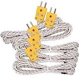 5pcs 3M Kタイプmini-connector温度プローブ熱電対センサー測定範囲- 50~ 700°C