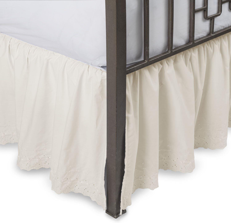"""25 /"""" FULL WHITE  BEDSKIRT OR DUST RUFFLE  SPLIT CORNERS"""