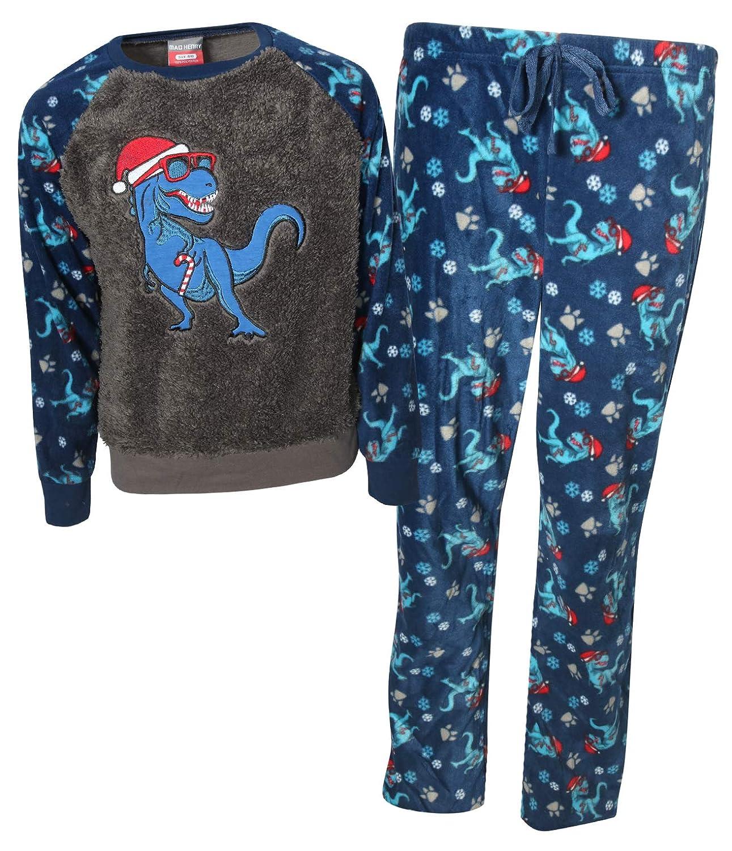 MAC HENRY Boys 2 Piece Sherpa Christmas Pajama Set