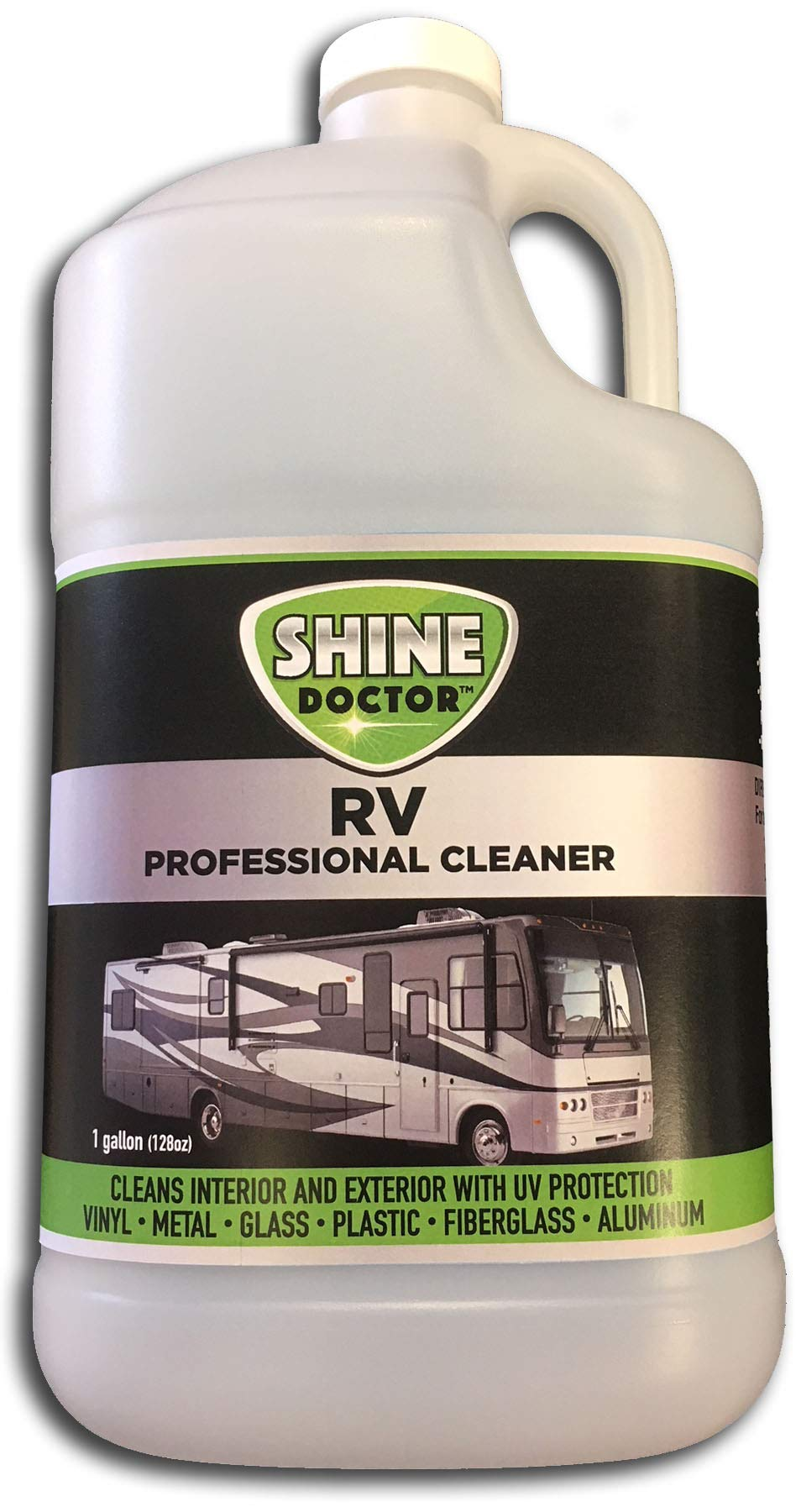 Shine Doctor RV Cleaner 128 oz.(Gallon Refill) with UV Protection! Cleans Chrome, Wheels and Glass and Removes Grime, Bugs and Grease.