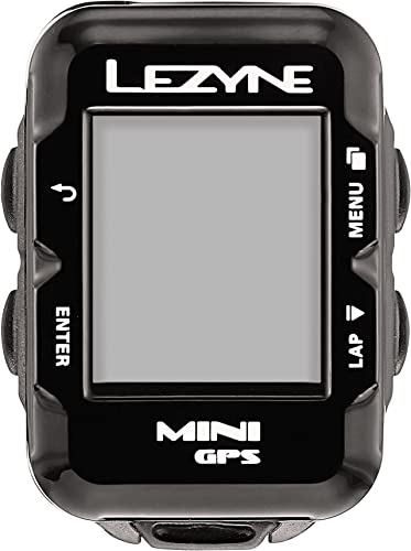 LEZYNE Mini Cycling GPS Computer, USB Rechargeable, 22 Hour Runtime, Stores 100 Hours of Data, Compact Bicycle GPS