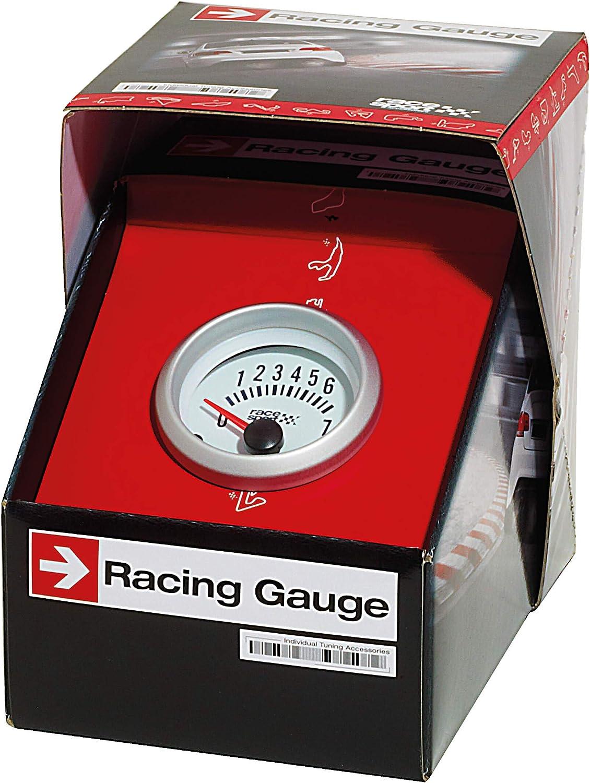 Di/ámetro 52 mm 12V Sumex Gaug544 Tac/ómetro 270/º,Race Sport