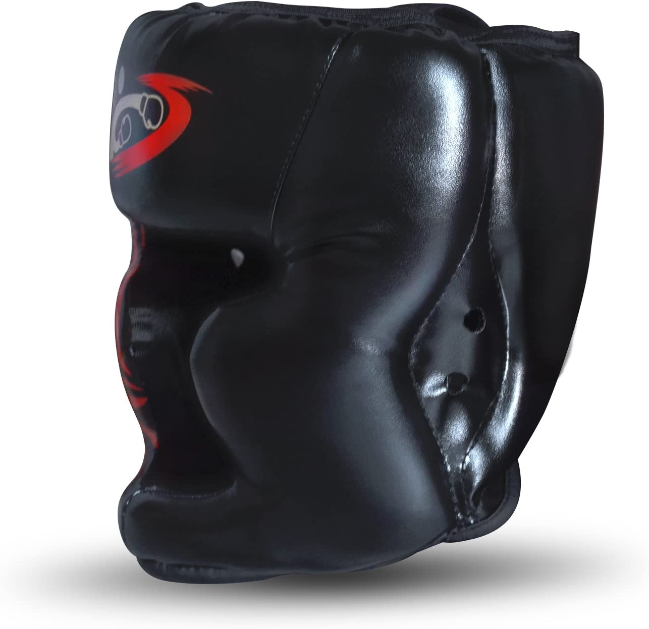 Details about  /Boxing Helmet For Men PU Leather Adjustable Boxing Head Gear Half-pack Punching