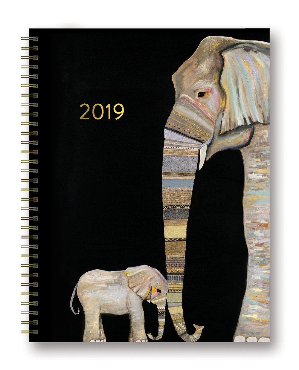 Orange Circle Studio 2019 Extra Large Spiral Planner, August 2018 - December 2019, Jose Donkey 19651