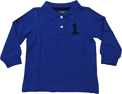 Hackett - Polo Azul Manga Larga Bebe NIÑO (12 Meses): Amazon ...
