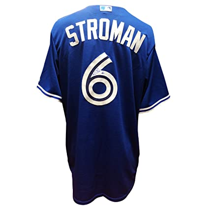 2a96d1f0f90 Image Unavailable. Image not available for. Color  Marcus Stroman Signed  Toronto Blue Jays Jersey