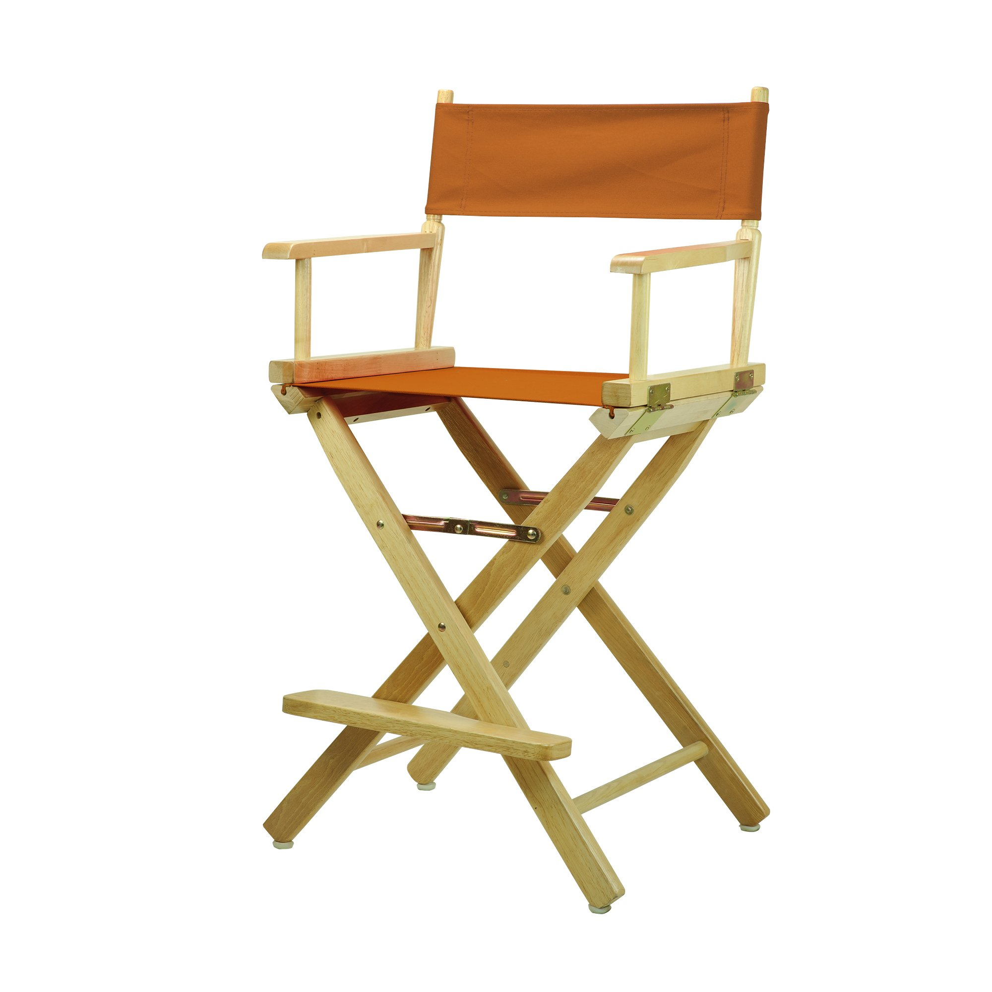 Casual Home 220-00/021-47 Director's Chair Natural Frame Canvas, 24''-Counter Height, Mango