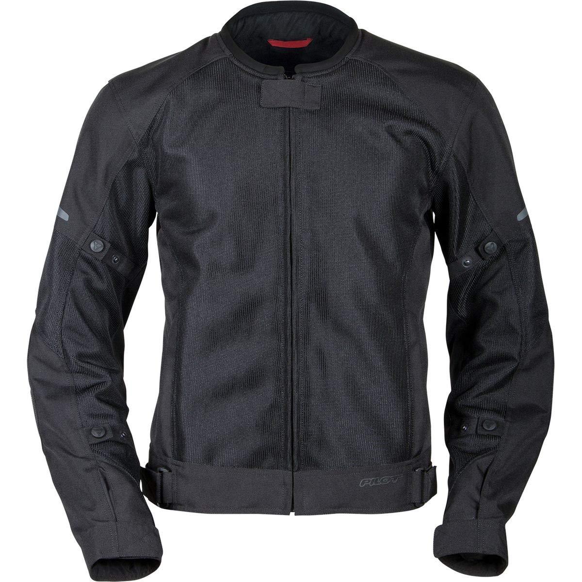 Pilot Motosport Mens Slate Air Mesh Motorcycle Jacket XL X-Large BLACK