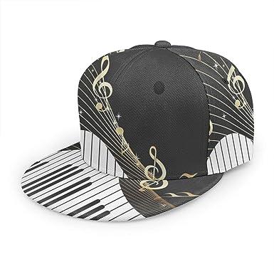 Gorra de béisbol con Notas Musicales Doradas y Piano, Unisex, 3D ...
