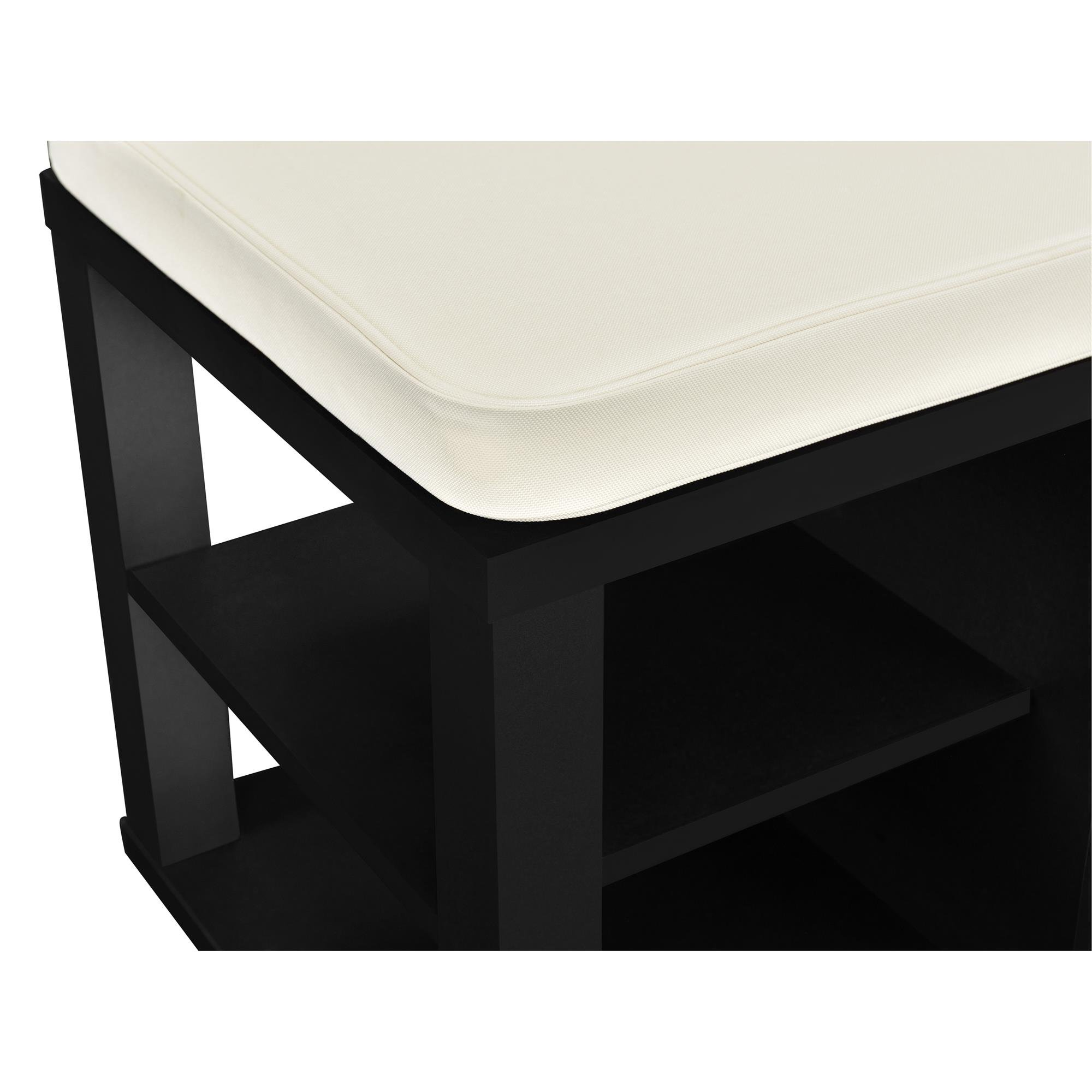 Ameriwood Home Parsons Storage Bench, Black by Ameriwood Home (Image #3)