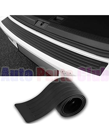 Auto Parts Club u800Rear Bumper Protector, Rear Bumper Guard/Universal Black Rubber Door Sill