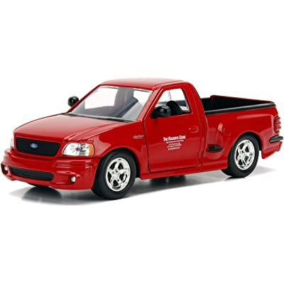 Jada Toys Fast & Furious Brian's Ford F-150 SVT Lightning, 1:24 Scale Die-Cast Vehicle, Red: Toys & Games