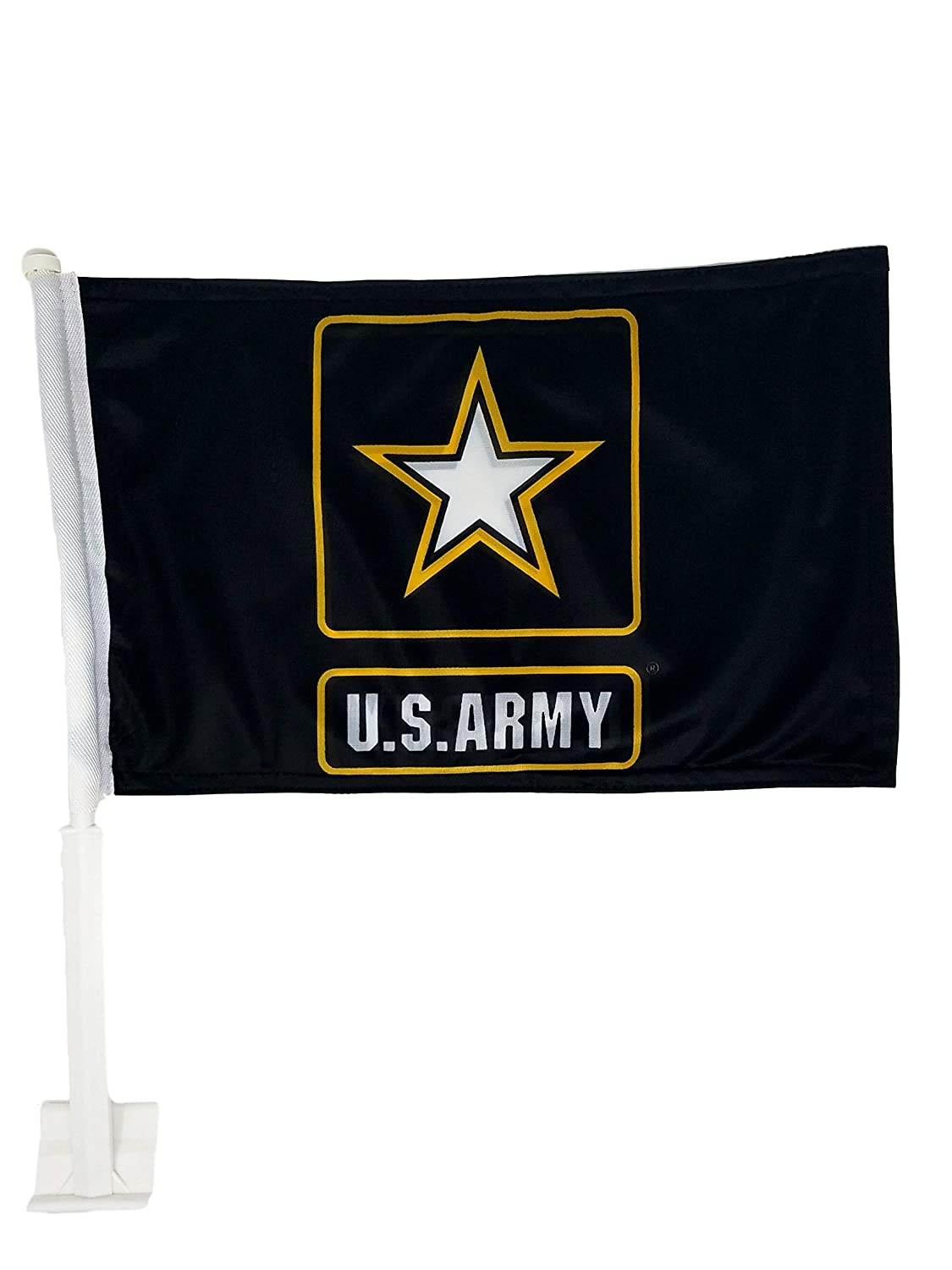 Ramsons Imports Double-Sided Car Flag 12x18 - Army Logo Ramson' s Imports