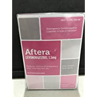 Aftera Levonogrestrel 1.5mg. Emergency Contraceptive. compared to Plan B One-Step