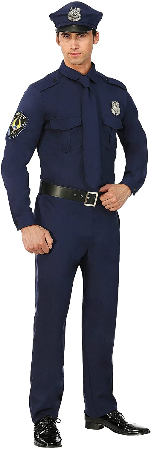 Mens Police Costume Cop Costume for Adults