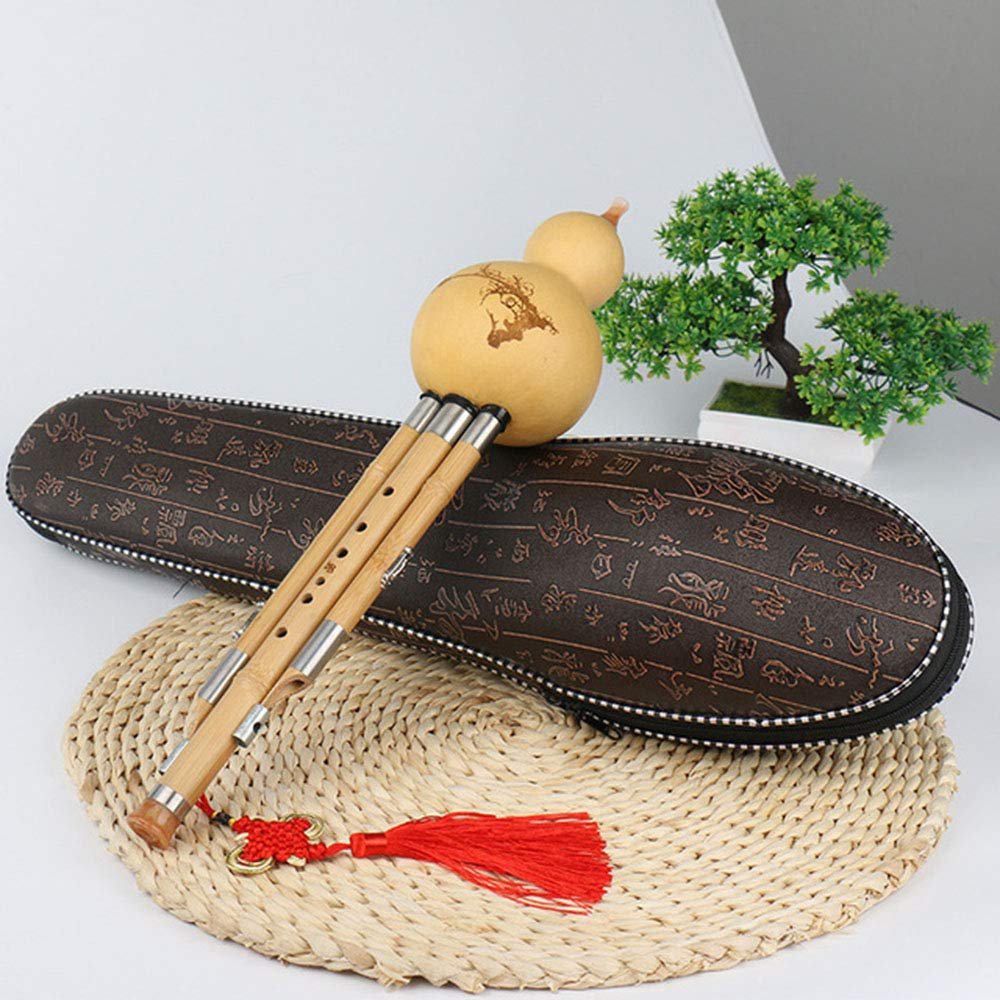 JYTNB Handmade Cucurbit Silk, Chinese National Wind Jinshen Cucurbit Silk Musical Chinese Cucurbit Silk Cucurbit Beautiful Cucurbit Silk for Beginner Music Lovers(C Key, B Key),CKey