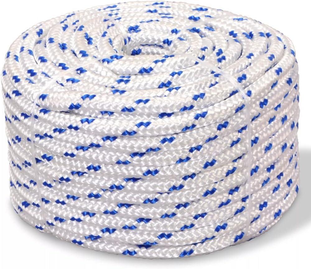 Tidyard Bootsseil Vielzweckseil Polypropylen Seil 6 mm x 100 m Blau Verschlei/ßfest