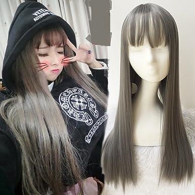 Amazon Com Air Bangs Long Hair Micro Volume Hairstyle A Clothing
