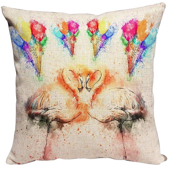Violetpos - Funda de cojín Decorativa para sofá, diseño de ...