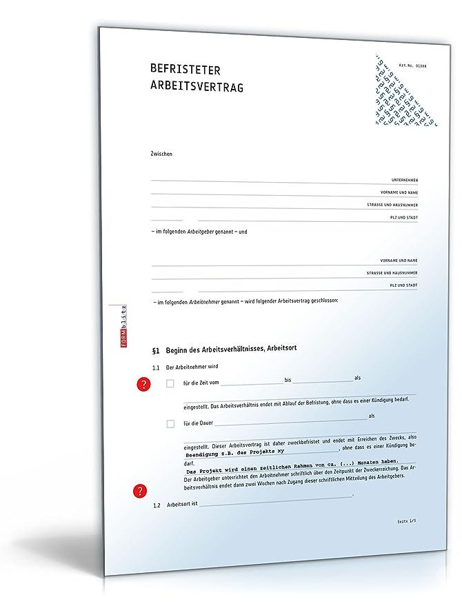 Befristeter Arbeitsvertrag Pdf Download Amazonde Software