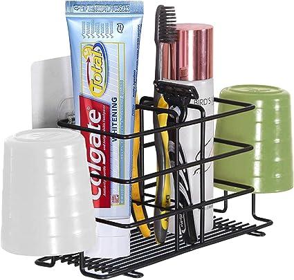 Basics Porte-brosse /à dents en acier inoxydable Noir