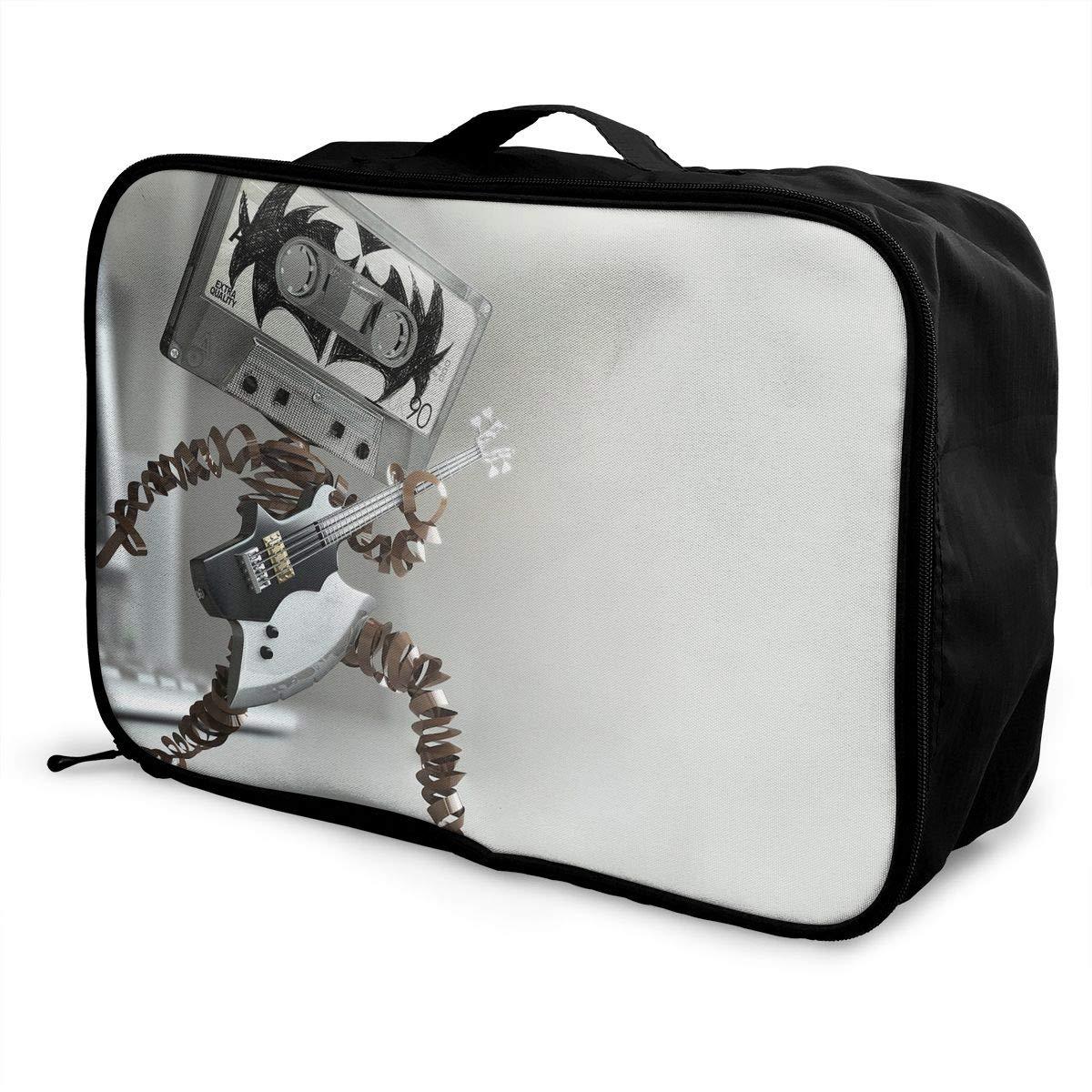 Travel Luggage Duffle Bag Lightweight Portable Handbag Cassette Rock Large Capacity Waterproof Foldable Storage Tote
