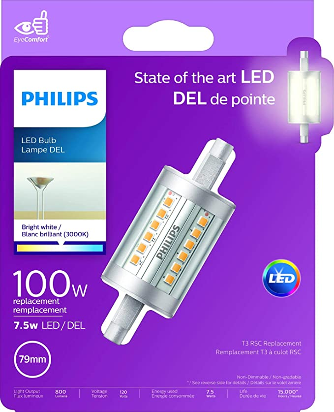 Philips Non Dimmable 7 5w Double Ended Clear Led Bulb Title 20 Compliant Amazon Com