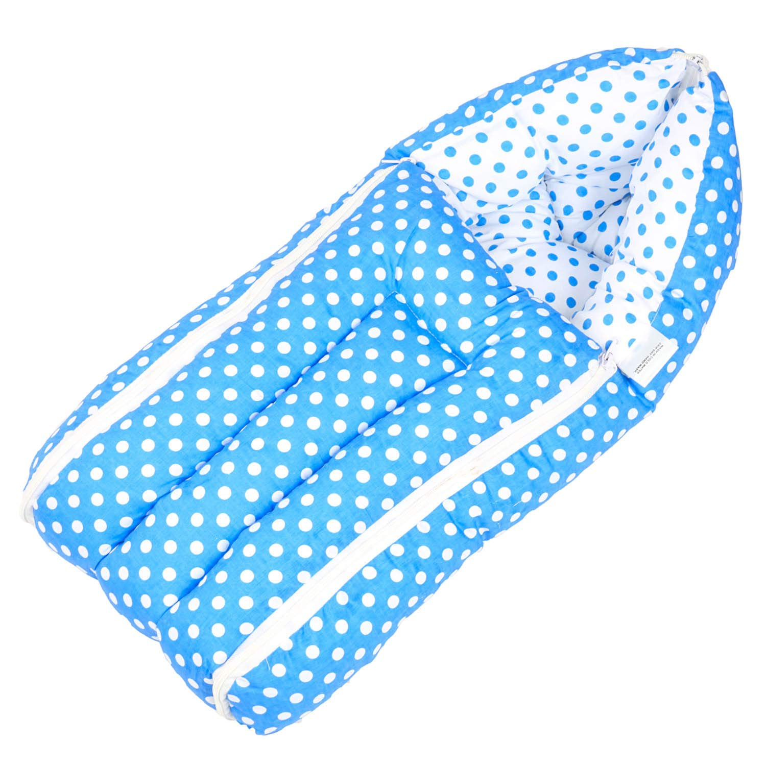 Baybee 3 in 1 Cotton Bed Cum Baby Sleeping Bag – Infant Portable Bassinet, Nest for Cosleeping for 0-6 Months - Blue
