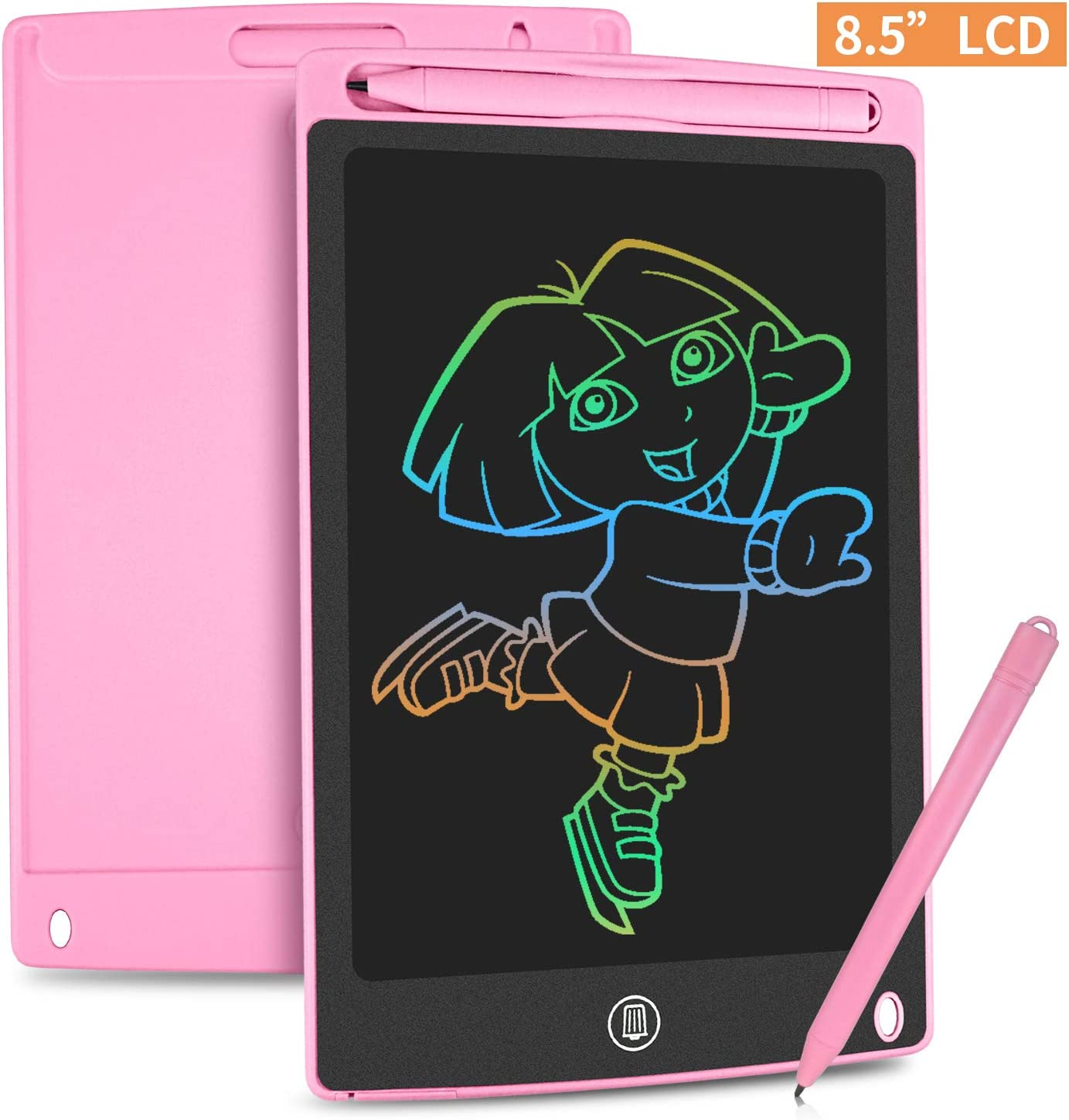 HOMESTEC Tableta Escritura LCD Color 8,5 Pulgadas, Tablet Dibujo, Tablet para Dibujar para Niños. Juguete Educativo (Rosa)
