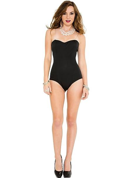 Black Strapless Body Suit