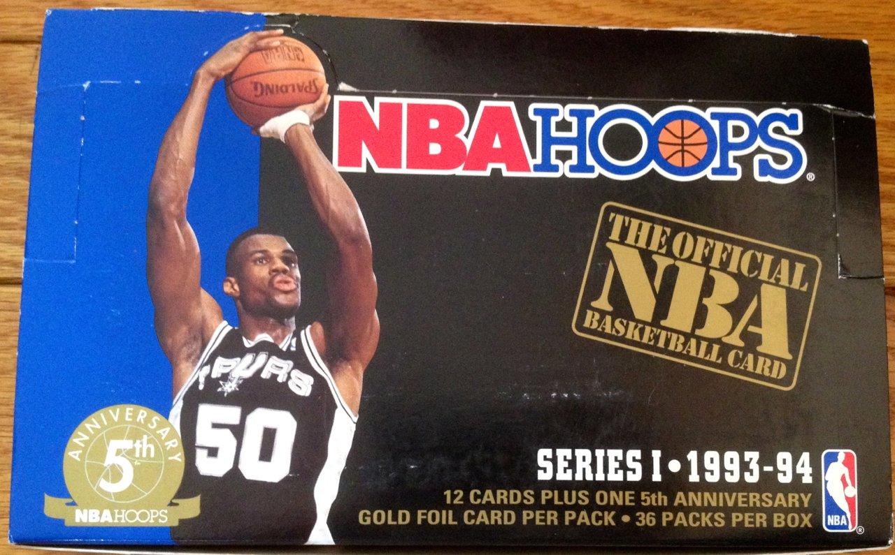 1993 – 94 NBA Hoops Series 1 – 1 caja de sellado (36 paquetes de ...
