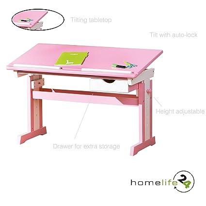 H24living Kids Art Desk Drawing Table Chrildren S Writing Desk
