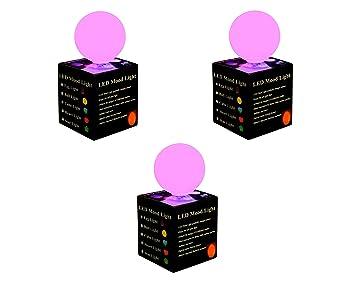 3 Boules Lumineuses - Sphères LED Lampes d\'Ambiance avec Couleurs ...