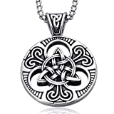 Amazon Price History for:Mens Women's Celtic knot Magic Double Side Solid Heavy Pendant Necklace Men's Stainless Steel Box Chain Jewelry