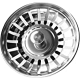 StrainerPRO Stainless Steel Kitchen Sink Strainer Plug - Dual Function Basket Strainer and Plug | Double Layer Construction | Sized For UK Sinks | Strainer Waste Plug 78mm | Ensure Dispatched from and Sold by ZeroNonsense Only