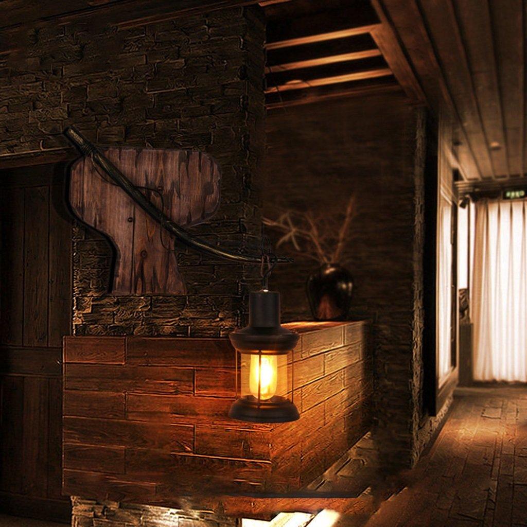 GKJ Wandleuchte Persönlichkeit Kreatives Restaurant Kaffee Laterne Wohnzimmer Schlafzimmer Schlafzimmer Schlafzimmer Nachttisch Massivholz Art 1d70e7