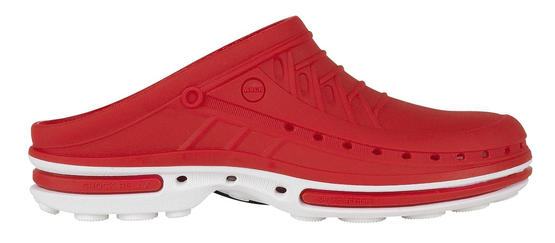 Clog - Antistatique Absorption Chaussure B00E4G27MU professionnelle WOCK - Stérilisable ; Antistatique ; Antidérapante ; Absorption des chocs Blanc/Rouge 91de2be - latesttechnology.space