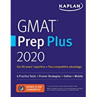 GMAT Prep Plus 2020: 6 Practice Tests   Proven Strategies   Online   Mobile (Kaplan Test Prep)